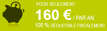 160€/an, 100% déductible fiscalement